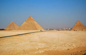 Pyramids of Giza Overlooking Cairo (Photo by Don Knebel)