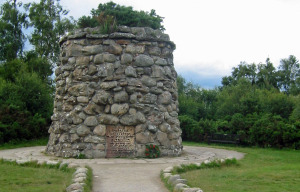 Cairn at Scotland's Culloden Battlefield (Photo by Don Knebel)