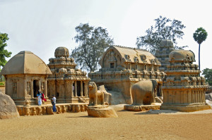 Pancha Rathas Shrines in Mamallapuram, India (Photo by Don Knebel)