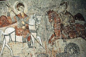 Eleventh century Cappadocian fresco of St. George (Photo by Don Knebel)
