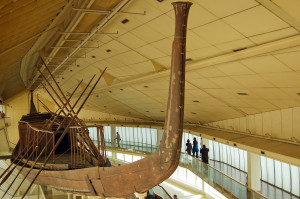 """""""Solar Boat"""" in Cairo's Boat Museum  (Photo by Don Knebel)"""