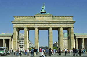 Berlin's Brandenburg Gate from the West (Photo by Don Knebel)