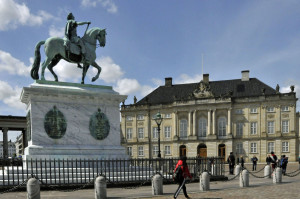 Statue of Frederick V in Amalienborg Palace (Photo by Don Knebel)