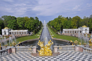 The Grand Cascade of Peterhof, near St. Petersburg (Photo by Don Knebel)