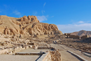 Ruins of Deir el-Medina, near Luxor, Egypt (Photo by Don Knebel)