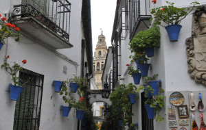 Street in Jewish Section of Cordoba, Spain (Photo by Don Knebel)