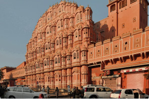 Façade of Jaipur's Palace of the Winds (Photo by Don Knebel)