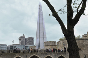 The Shard from the Tower of London (Photo by Don Knebel)