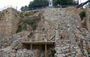 City of David's Stepped Stone Structure (Photo by Don Knebel)